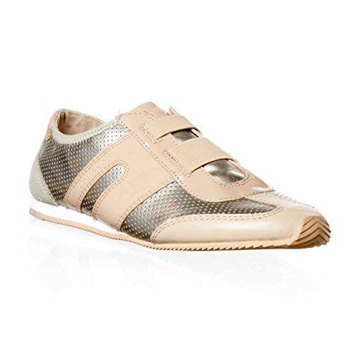 Calvin Klein Harrah Damenschuhe Größe 9 Nude Leder Sneakers Schuhes