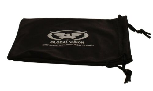 Free Pouch Shatterproof UV400 Tinted Global Vision Motorcycle//Biker Sunglasses
