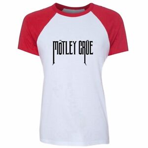 Motley-Crue-Glam-Metal-Design-Womens-Girls-T-Shirt-Personalized-Graphic-Tee-Tops