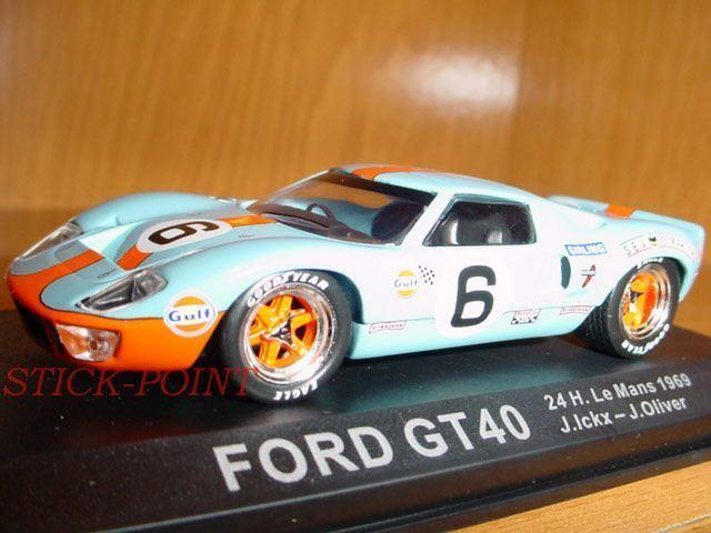 FORD GT40 GT40 GT40 GT 40 1 43 24 H.LE MANS 1969 ICKX-OLIVER RARE d24385