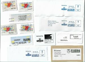 World-ATM-Automatic-machine-labels-type-postage-stamps-x-60-Batch-1