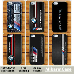 buy popular 2a176 56cb7 Details about BMW M Motorsport Hard cover case For Apple iPhone 5 6 7 S  plus 8 X XR XS Max