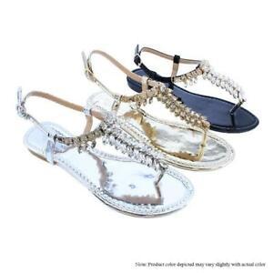 Fei-1-Liliana-Rhinestone-Shiny-Accent-Ankle-Strap-Buckle-Fashion-Flat-Sandals