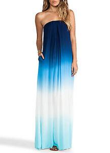 Caricamento dell immagine in corso Vestito-Lungo-Donna-Blu-Mare-Casual-Blue- Woman- 4eca5d8c92b