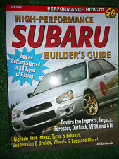 High-Performance Subaru Builder's Guide book manual IMPREZA LEGACY OUTBACK WRX