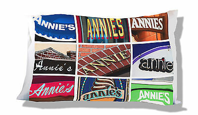 Personalized Pillowcase featuring the name ANGIE in photos of sign letters