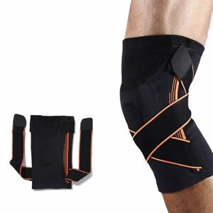 0c2d64b8dc 3D Weaving Knee Brace Breathable Sleeve Support for Running Jogging ...