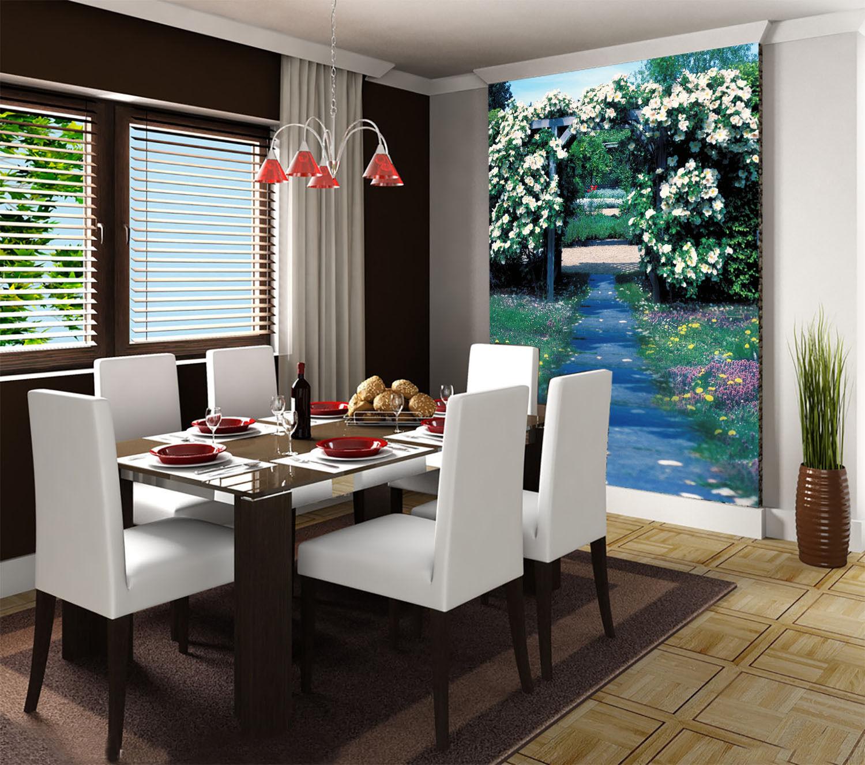 3D Garden Flowers Path 2 Paper Wall Print Decal Wall Wall Murals AJ WALLPAPER GB