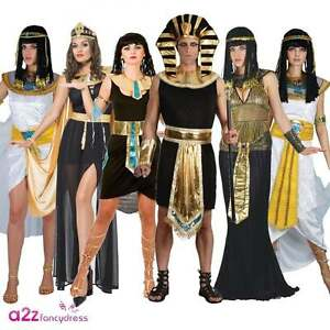 Image is loading ADULT-EGYPTIAN-KING-PHARAOH-QUEEN-THE-NILE-LADIES-  sc 1 st  eBay & ADULT EGYPTIAN KING PHARAOH QUEEN THE NILE LADIES CLEOPATRA FANCY ...
