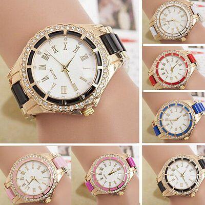 Sport Women's Watch Stainless Steel Dial Band Analog Quartz Casual Wrist Watch