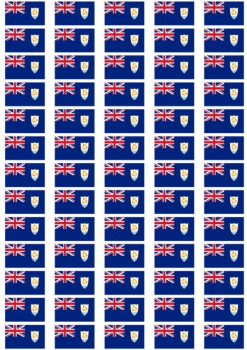 Anguilla Flag Stickers rectangular 21 or 65 per sheet