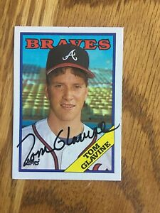 1988 Topps Tom Glavine Auto Signed Rookie Card #779 Braves HOF