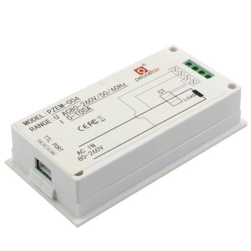 AC80-260V 100A Power Meter Monitor Voltmeter Ammeter Energy Meter