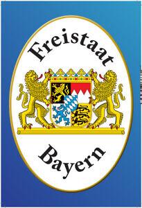 Freistaat Bayern Motiv 1 Blechschild Schild gewölbt Tin Sign 20 x 30 cm SM0037