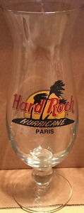 Hard-Rock-Cafe-PARIS-Hurricane-Glass-with-Classic-HRC-Logo-Palm-Trees-9-25-034-Tall