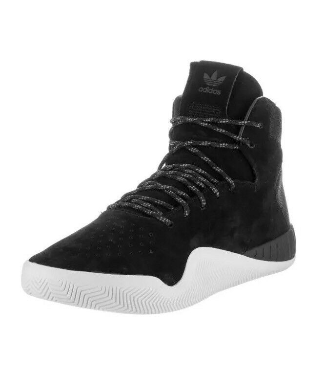 Adidas Tubular Instinct Mens S80085 Black White Suede Tonal Mesh Shoes Size 11.5