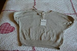 pull-NEUF-REPETTO-beige-stage-brillant-noeud-5-ANS-74-EUROS