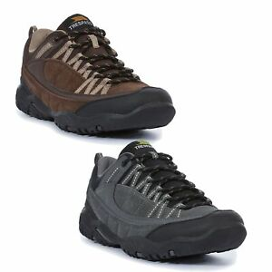 Trespass-Taiga-Mens-Walking-Trainers-Hiking-Shoes-In-Brown-amp-Grey