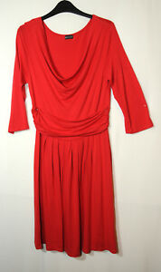 RED-LADIES-CASUAL-PARTY-DRESS-SIZE-10-LAURA-SCOTT-STRETCH