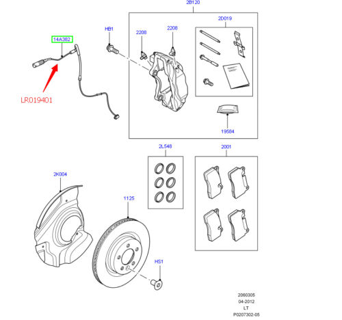 New FRONT Brake Pad Wear Sensor For Land Rover Range Rover Sport 2010 11 12 2013