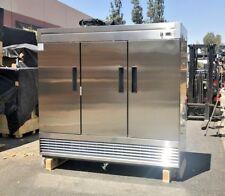 New 80 Commercial 3 Door Reach In Refrigerator Model 83r Nsf Stainless Fridge