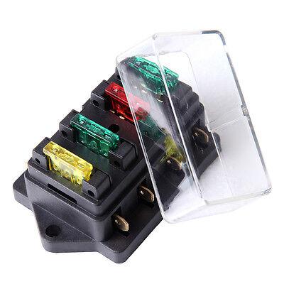 Use Holder Box 4 Way Car Vehicle Circuit Automotive Blade Fuse Box Block