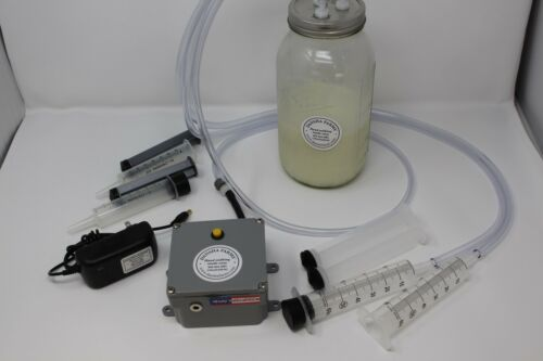 Dansha Farms™ Goat Sheep Cow Rechargeable Vacuum Milk Machine 1//2 Gallon 2 Teat
