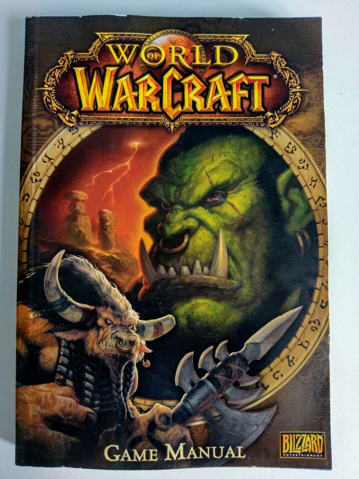 Classic World Of Warcraft spillermanual+disk, MMORPG