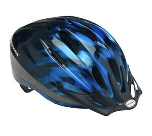 ages 14+ Schwinn Intercept Adult Bicycle Helmet with Removable Visor Blue Bike