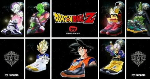 Goku US Size 12-12 1//2 Authentic Heredia Dragon Ball Z Shoes Sneakers