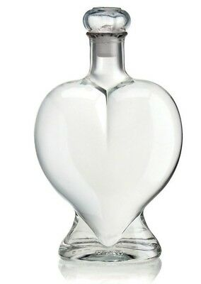 0.5ltr Double Hearts Shape Glass Bottle