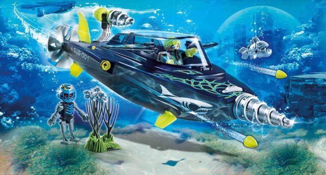PLAYMOBIL 70005 Submarine Team Shark Drill Destroyer Submarino Worldwide