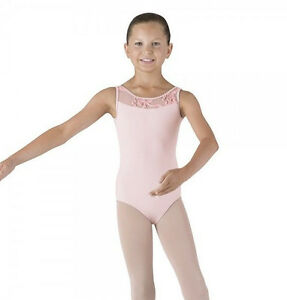 70908b26db47 NWT Bloch Dance Candy Pink Tank Leotard Mesh Front   Back Med Child ...