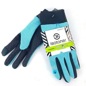 ISOTONER-Active-Smartouch-Gloves-Flexible-Stretch-Blue-Women-039-s-size-L-XL-NEW-NWT