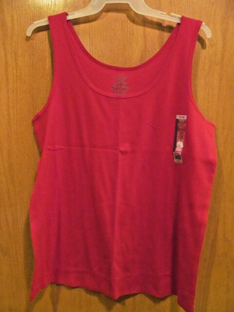 0685e528af3b6 Faded Glory Womens Plus Size 3x Red Layering Tank Top 22w 24w