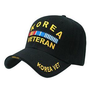 d6b9420c Black Korea Korean War Veteran US Military Army Navy Baseball Cap ...