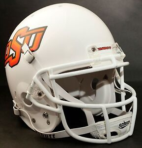 Details About Dez Bryant Oklahoma State Cowboys Schutt Ropo Sw Football Helmet Facemask White