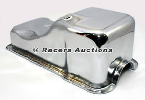 SBF-Ford-Front-Sump-Oil-Pan-Chrome-260-289-302-5-0-Windsor-Small-Block