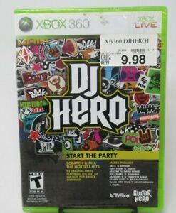 DJ HERO GAME FOR XBOX 360, CASE, 93 ORIGINAL MIXES, JAY-Z EMINEM +, FACTORY SEAL