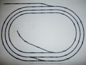 Hornby-Job-Lot-of-00-Gauge-Steel-Track-triple-Oval-with-sidings