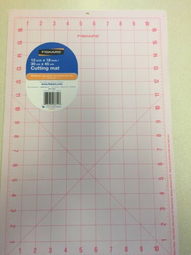 "Fiskars Self Healing Cutting Mat 12/"" x 18/"" Double Sided Pink//Yellow New"