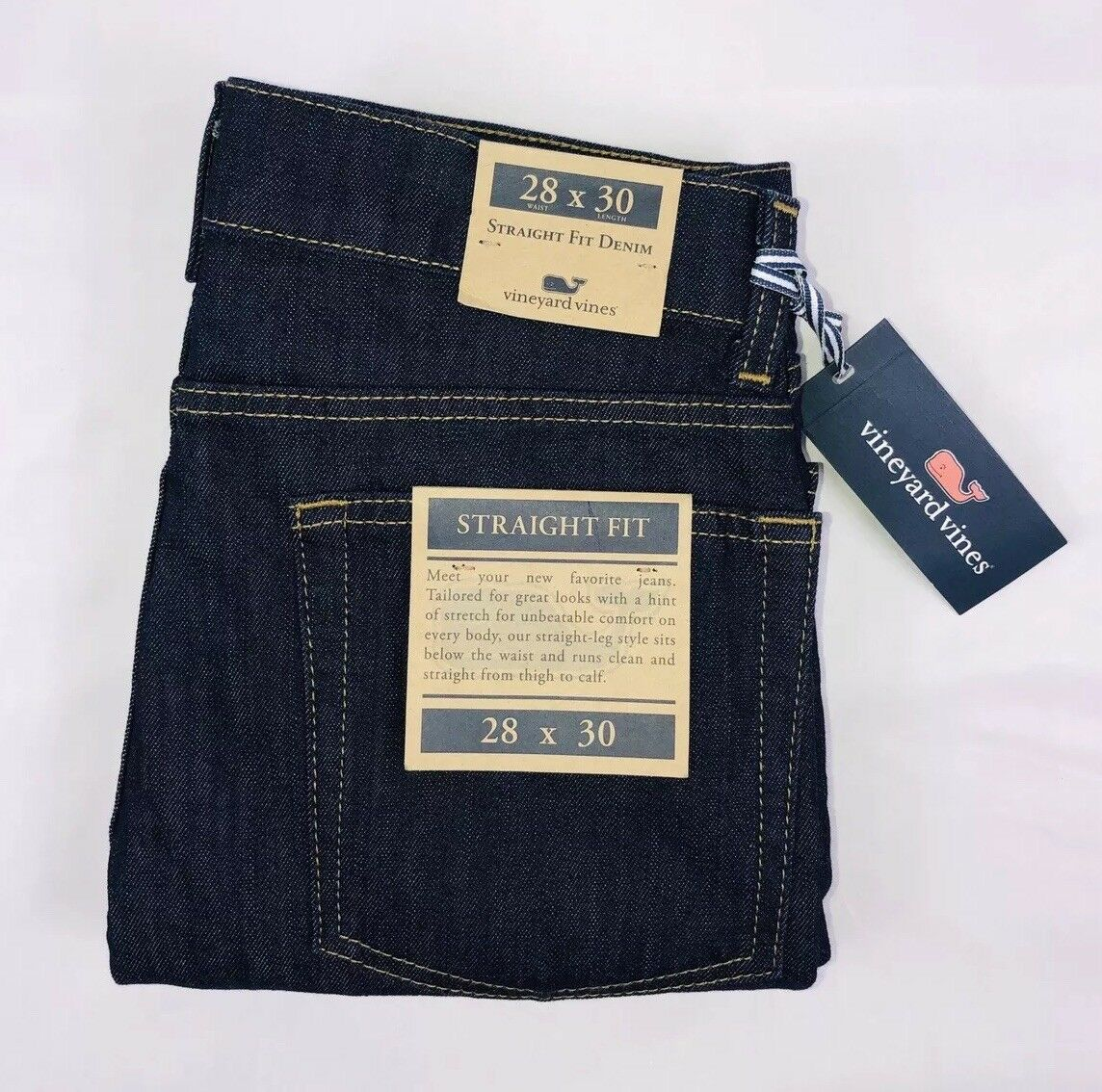 ba5492d52ef NWT Vines Men's Fit Jeans In Baltic bluee Dark Wash Size 28x30 Vineyard  Straight nthunn517-Jeans