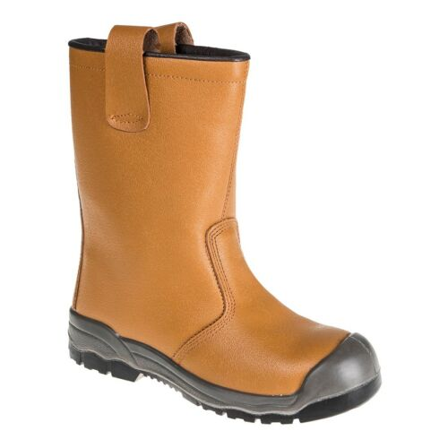 Portwest Fur Lined Work Safety Rigger Boots Shoes Scuff Cap Steel Toe Cap FW13