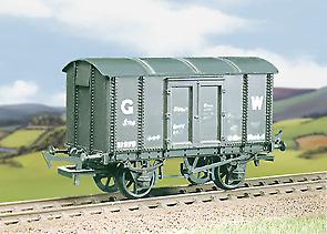 Ratio-563-GWR-Iron-Mink-A-van-M-W-Plastic-Kit-OO-Gauge