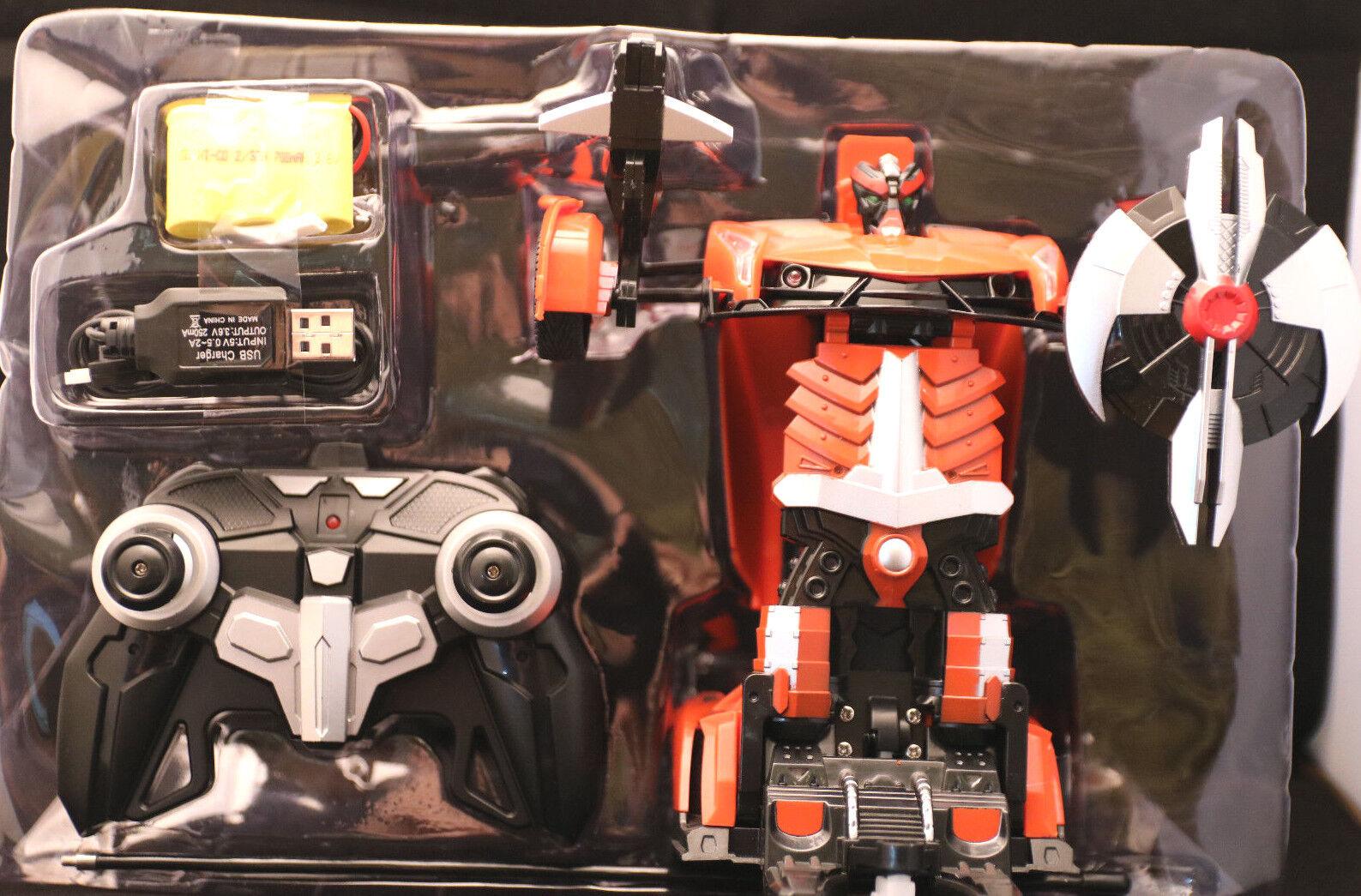 Ferngesteuert  Transformers   Farbe orange   8+   OVP   vom Roboter zum Auto