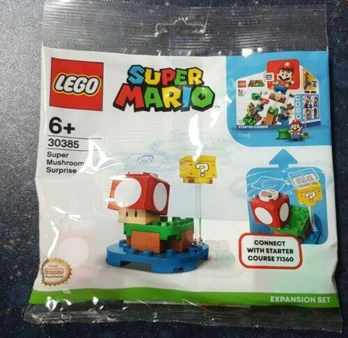 LEGO 30385 Super Mario Super Mushroom PolyBag Limited Edition New Sealed