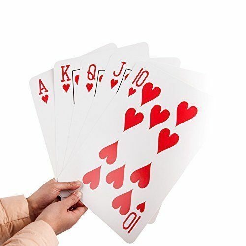 """4 Giant Jumbo Playing Cards Poker Deck Family Fun Game Extra Large Deck 8/"""" x 11/"""""""