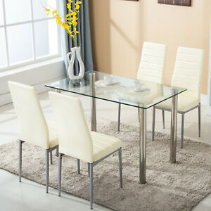 5-pcs-Dining-Set-Glass-Metal-Table-and-4-Chairs-Kitchen-Dining-Room-Furniture
