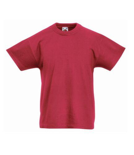 Fruit of the Loom Kids Original T-Shirt Tee Sports Plain Girls Boys Sleeve Short