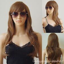 Color Mixed Cosplay Hair Wig Womens Ladies Long Wavy Wigs Pink Purple White Blue